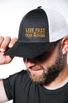 Live Fast Neon Orange FlexFit