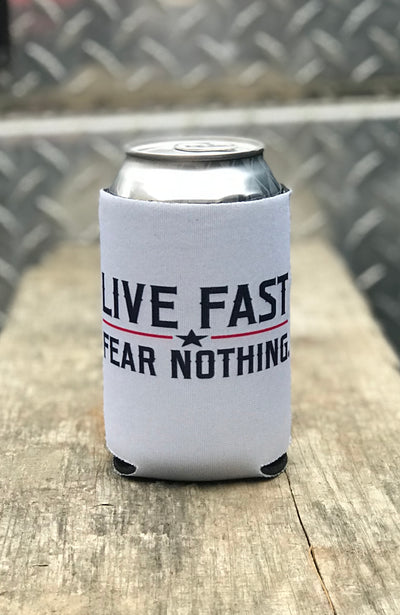 Live Fast Fear Nothing Koozie
