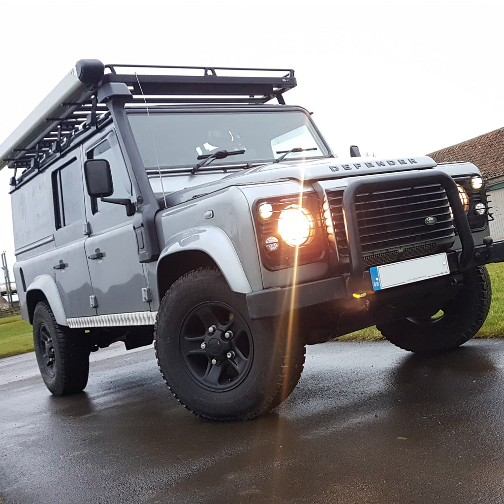 Land Rover Defender 110 Roof Rack, Lighting, Security and More!