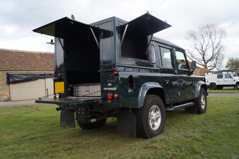 Land Rover Defender 110 Double Cab Trojan Back Pick Up Conversion