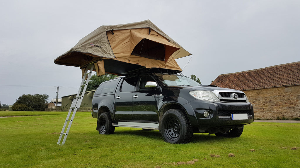 ... Toyota Hilux Roof Bars and Roof Tent Fitting UK Trek Overland : toyota hilux roof top tent - memphite.com