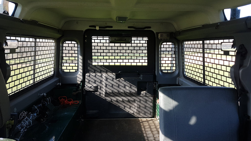 Land Rover Defender Window Guards Mobile Storage Systems