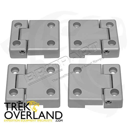 DEFENDER DOOR HINGES 2ND ROW ALUMINIUM - BRITPART - DA1309