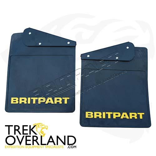 PAIR OF BRITPART MUDFLAPS (YELLOW LOGO) - BRITPART - DA4532