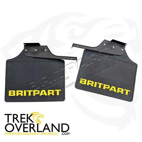 PAIR OF WIDE BRITPART MUDFLAPS (YELLOW LOGO) - BRITPART - DA4536