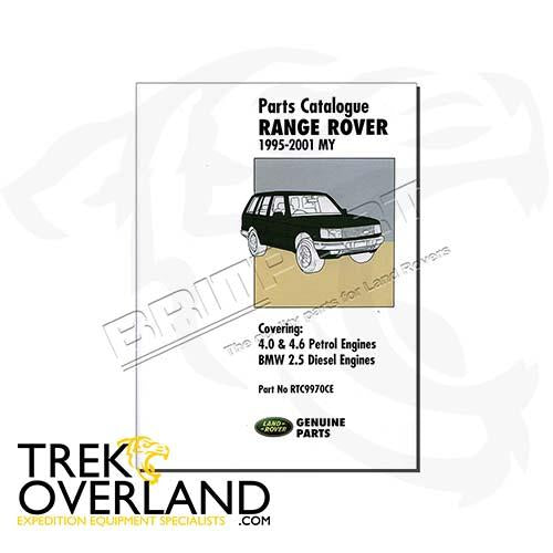 PARTS CATALOGUE NEW RANGE ROVER - BROOKLANDS - RTC9970CE