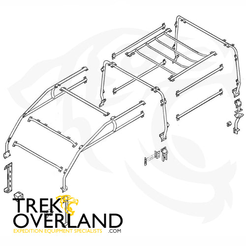 Land Rover Defender 110 6 Point External Roll Cage - Safety Devices - RBL2427SSS
