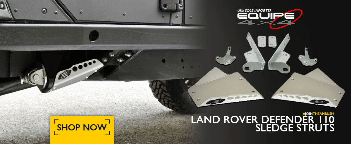 Land Rover Defender 110 Sledge Struts by Equipe 4x4