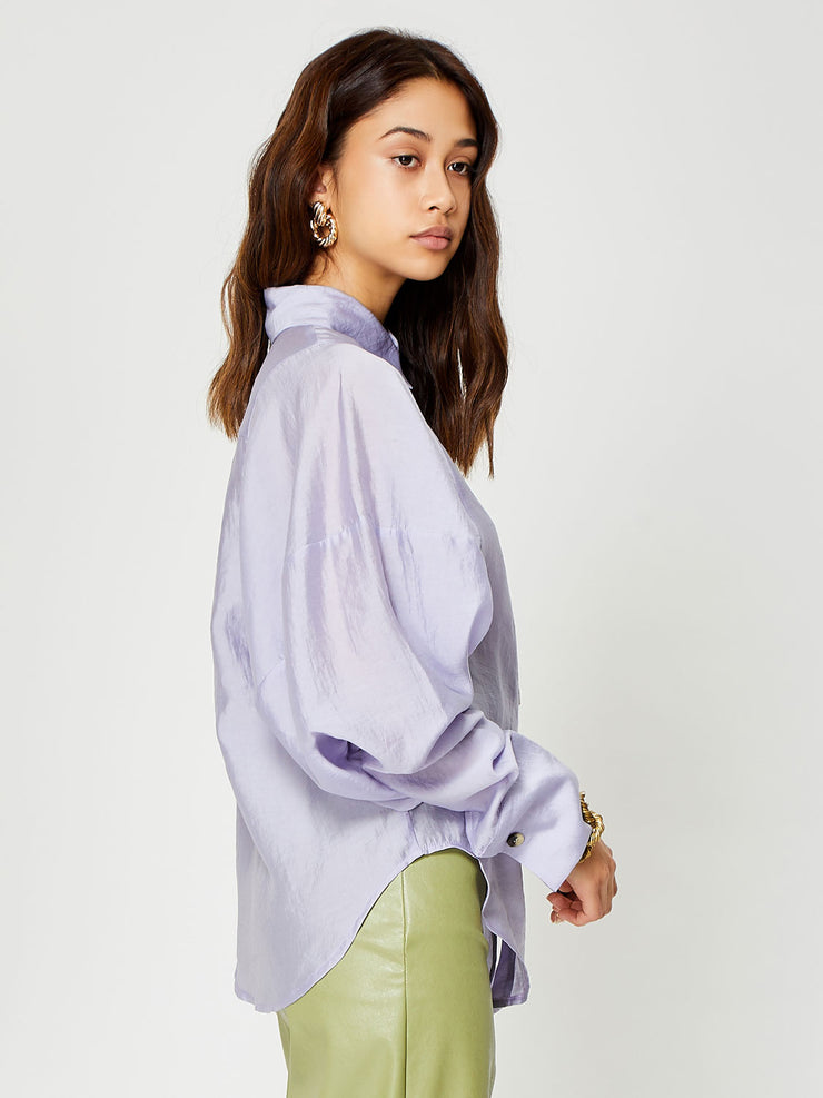 Crackle Glaze Seam Detail Shirt