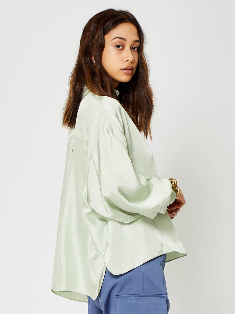 Marble High Neck Blouse