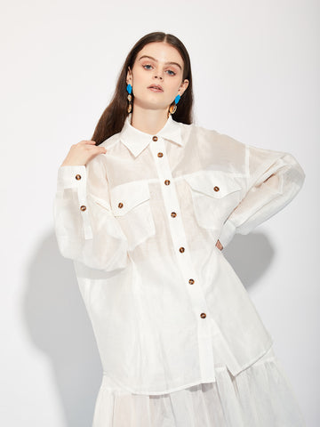 Department Sheer Oversized Shirt