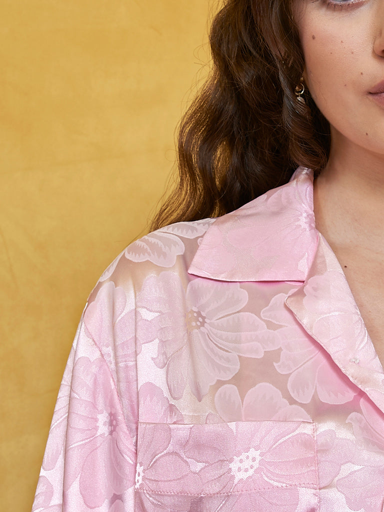 Water Lily Rever Collar Shirt