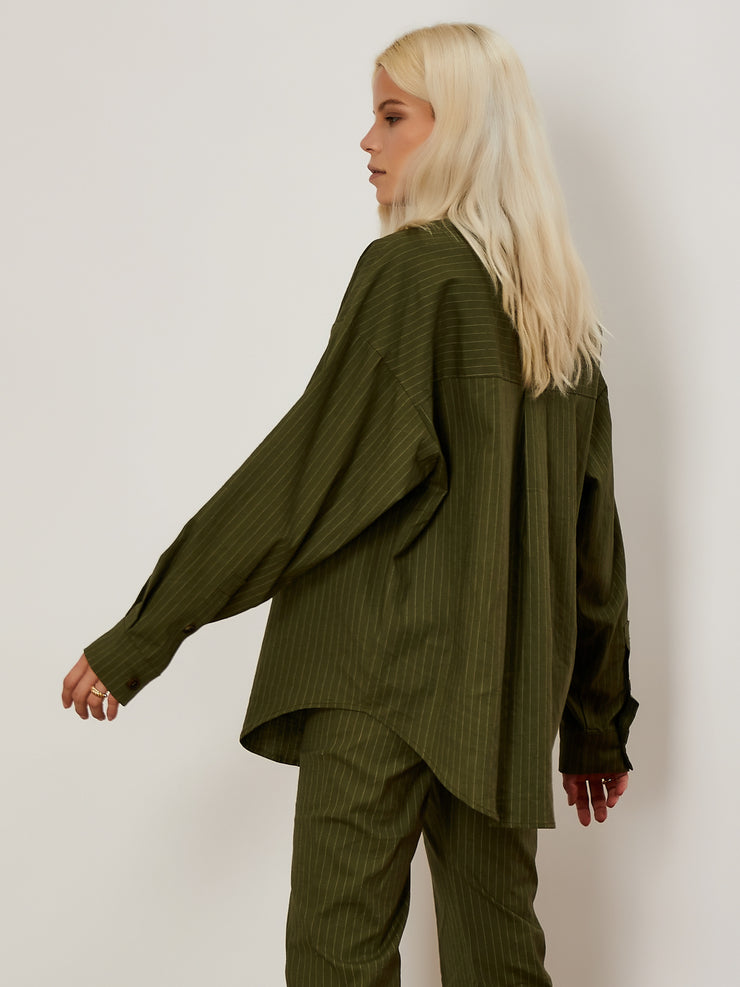 Linear Lines Oversized Shirt