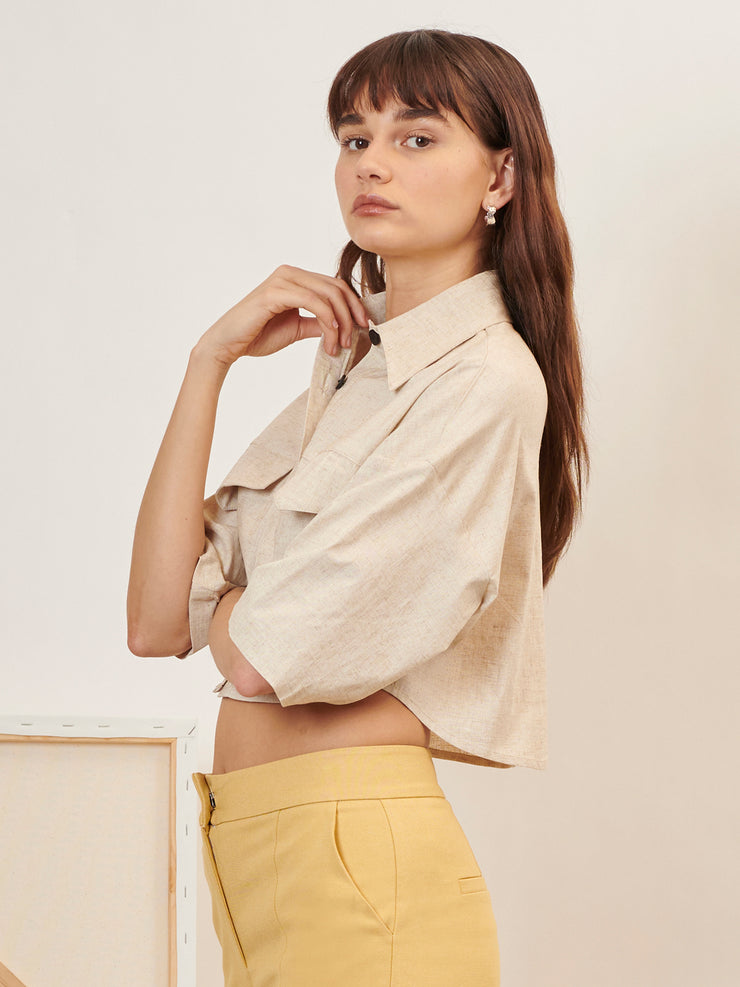 Painter Cropped Shirt