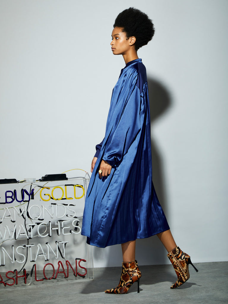 Backstage 2-Tone Midi Dress