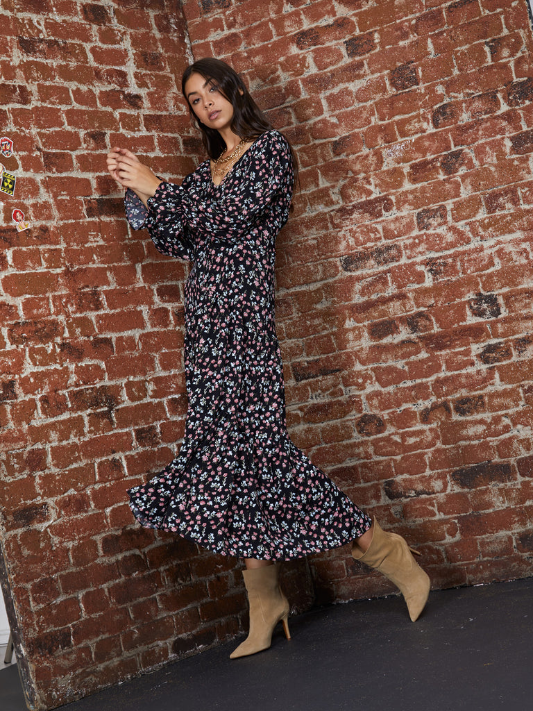 Floral Supply Midi Dress