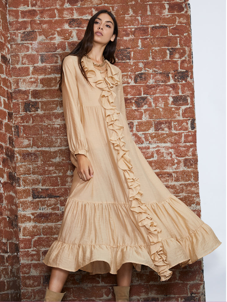 Honey Pot Ruffle Maxi Dress