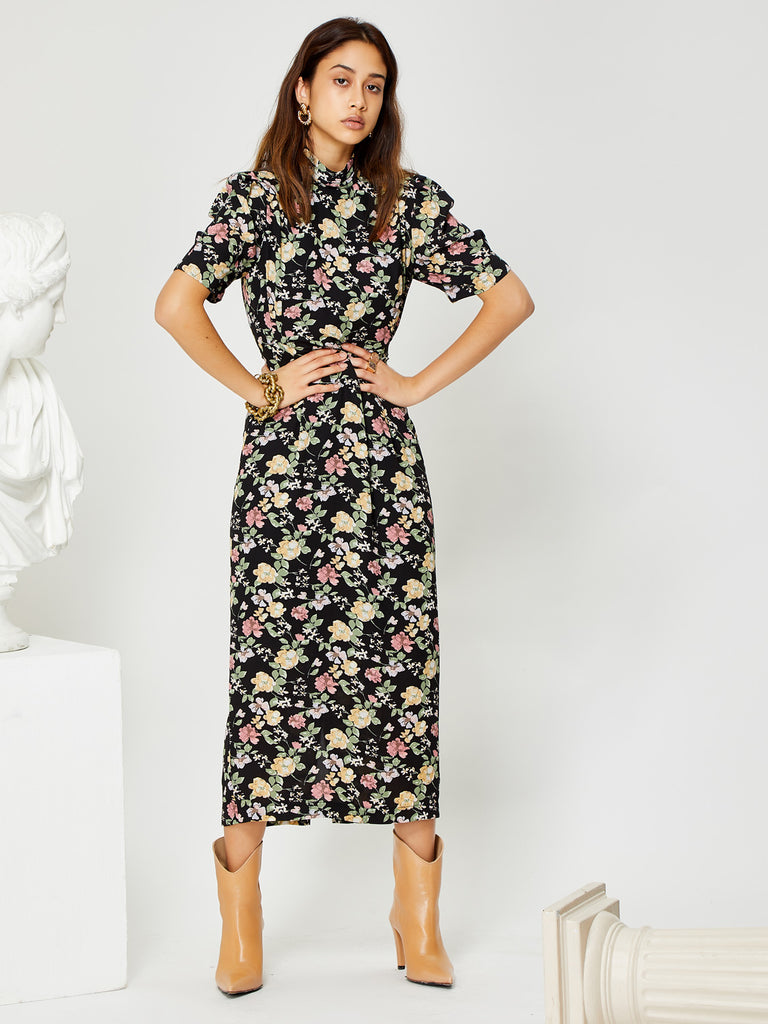 Flora Form Column Midi Dress