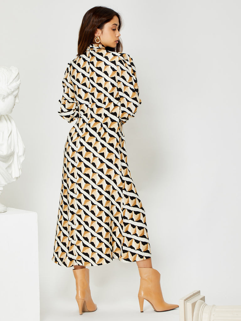 Double Take Midi Column Dress