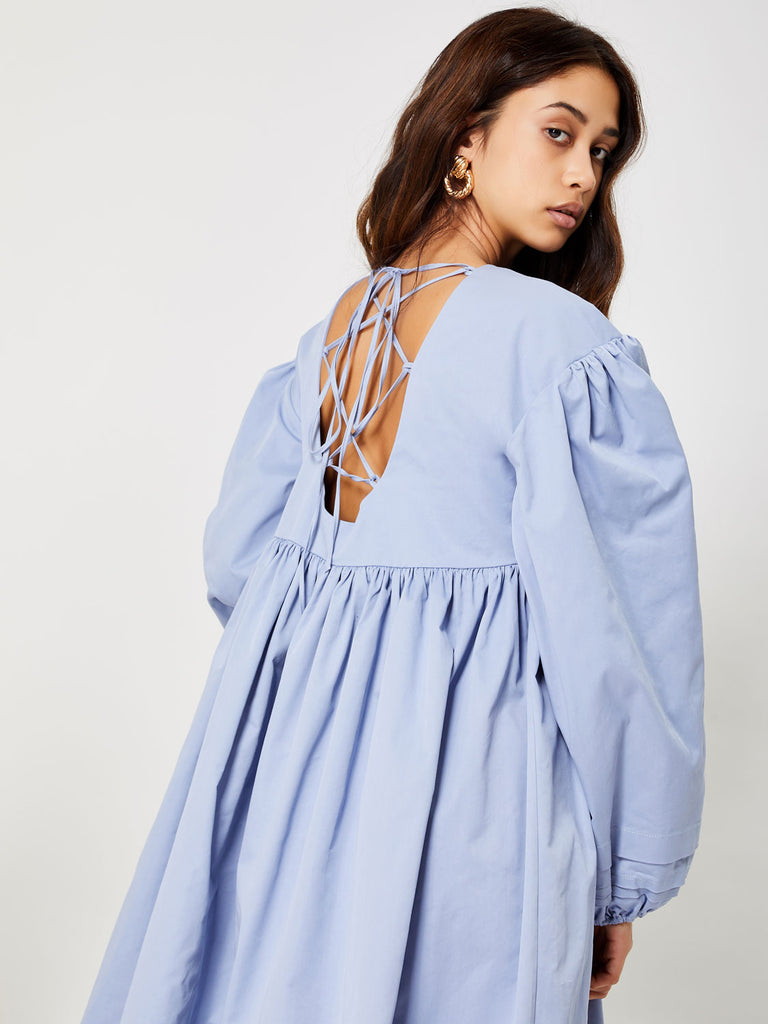 The Muse Open Back Midi Dress