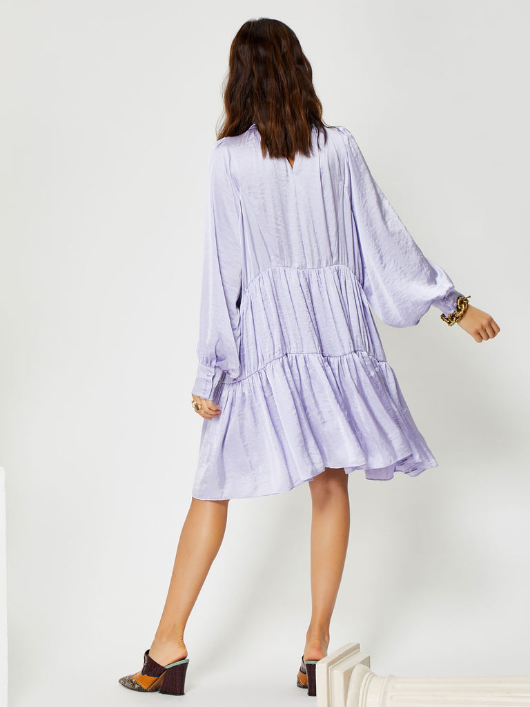 Lavender Glaze Tiered Dress