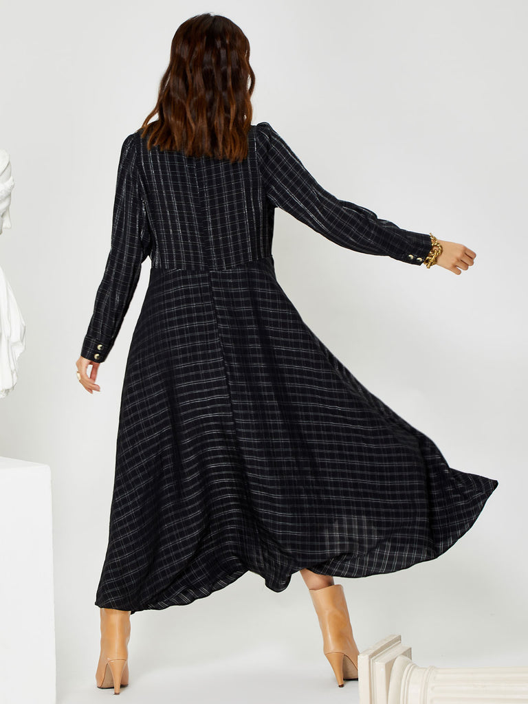 Plinth Midi Wrap Dress