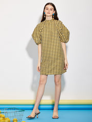 Check Out Puff Sleeve Mini Dress