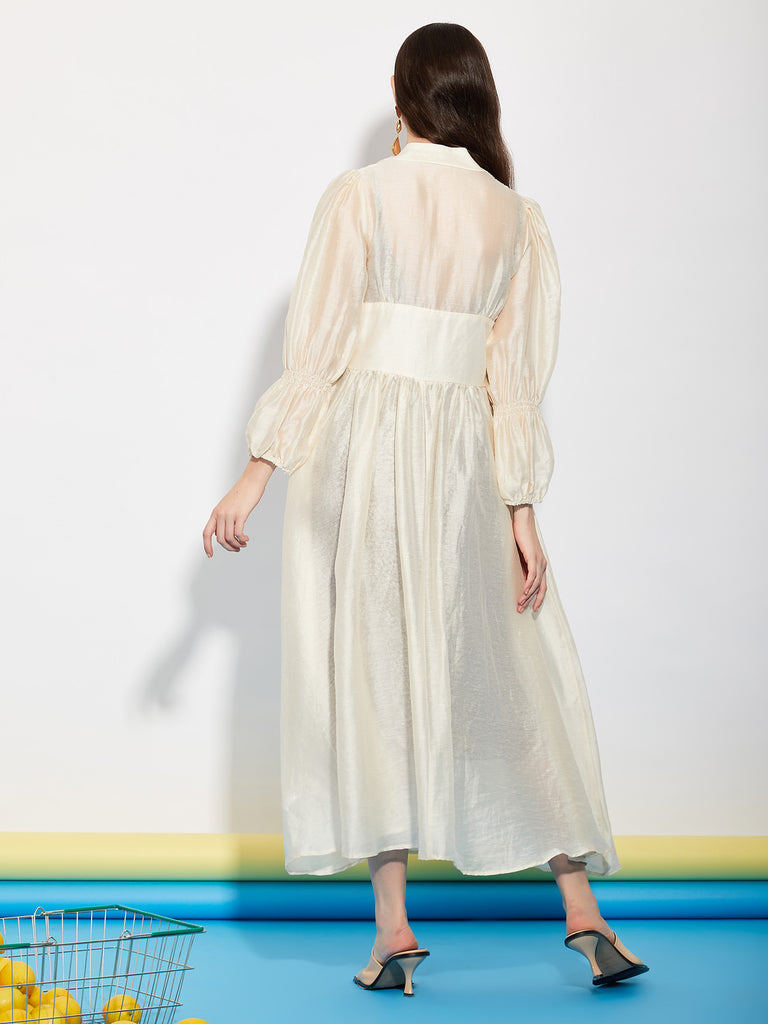 Department Sheer Maxi Dress
