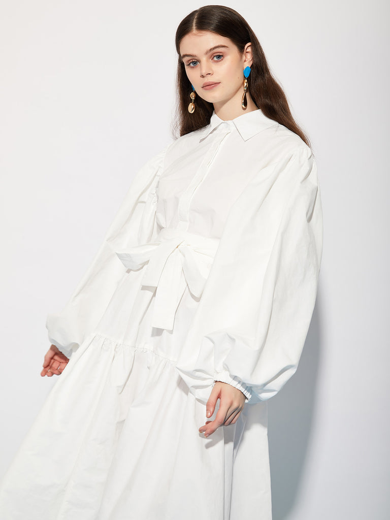 Manager Tiered Maxi Shirt Dress