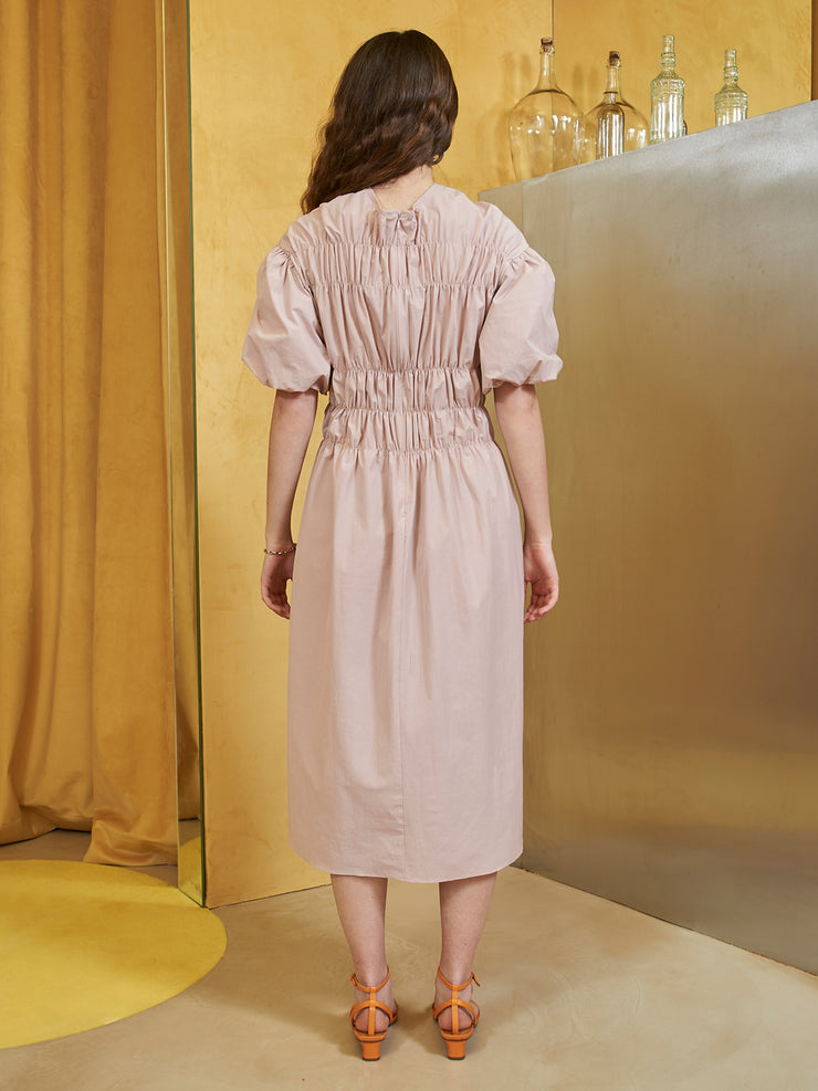 Seabird Smocked Midi Dress