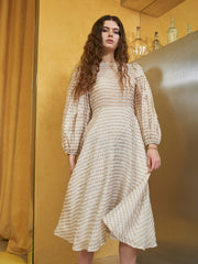 High Tide Check Midi Dress