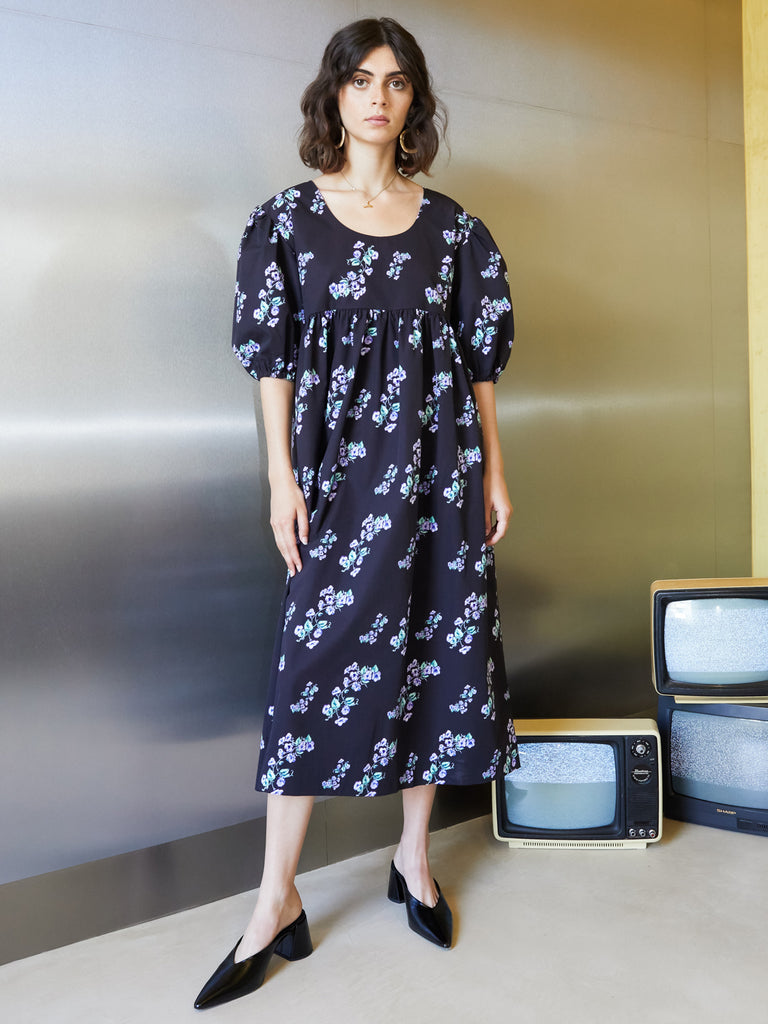 Virtual Floral Oversized Dress