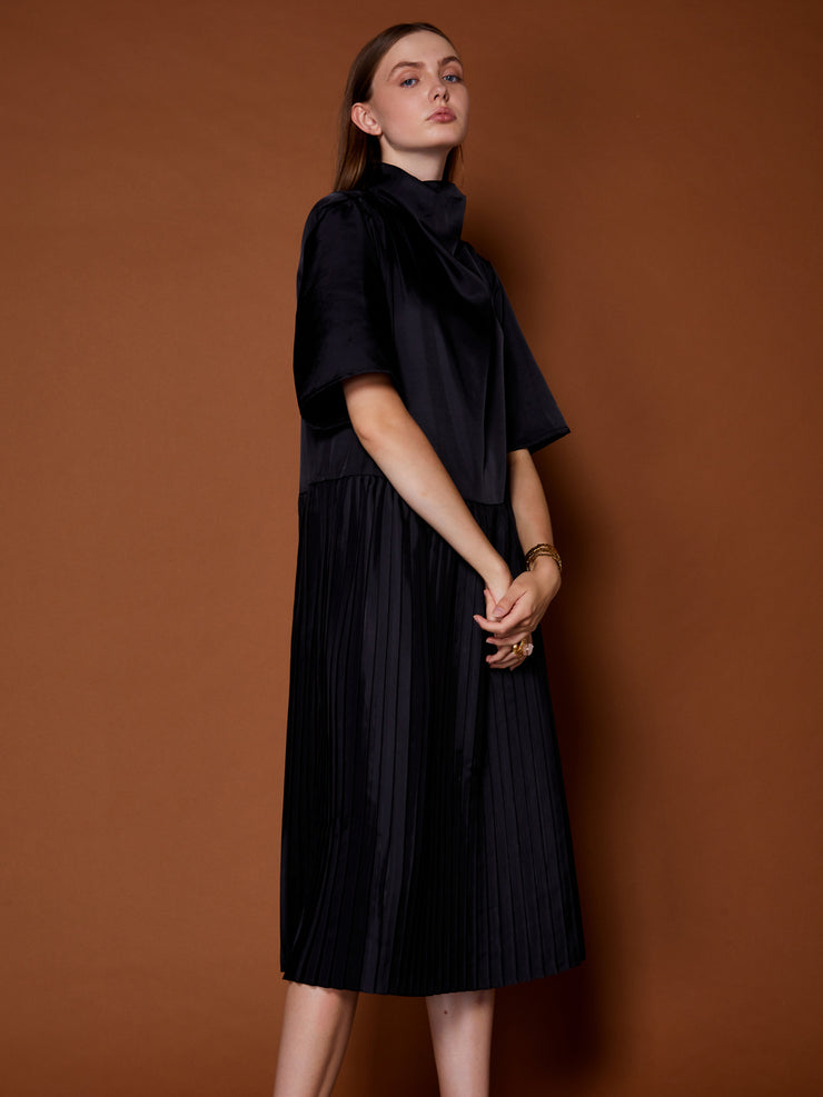 Passing by Cowl Neck Midi Dress