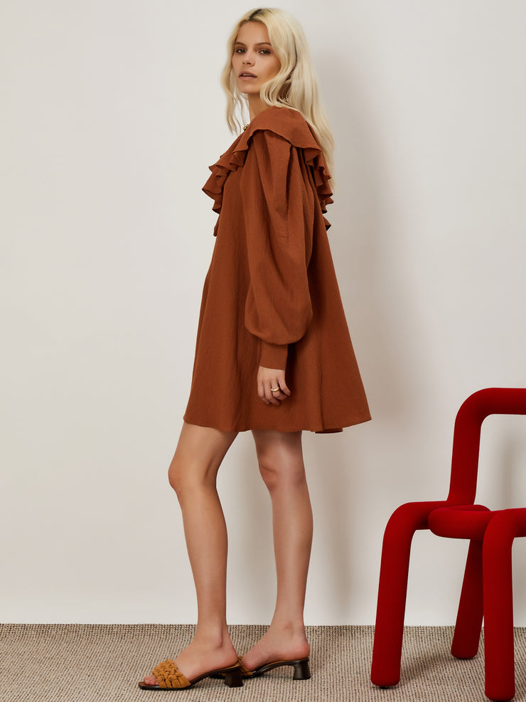 Craftsman Ruffle Mini Dress