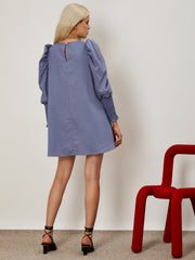 Blue Print Mini Dress