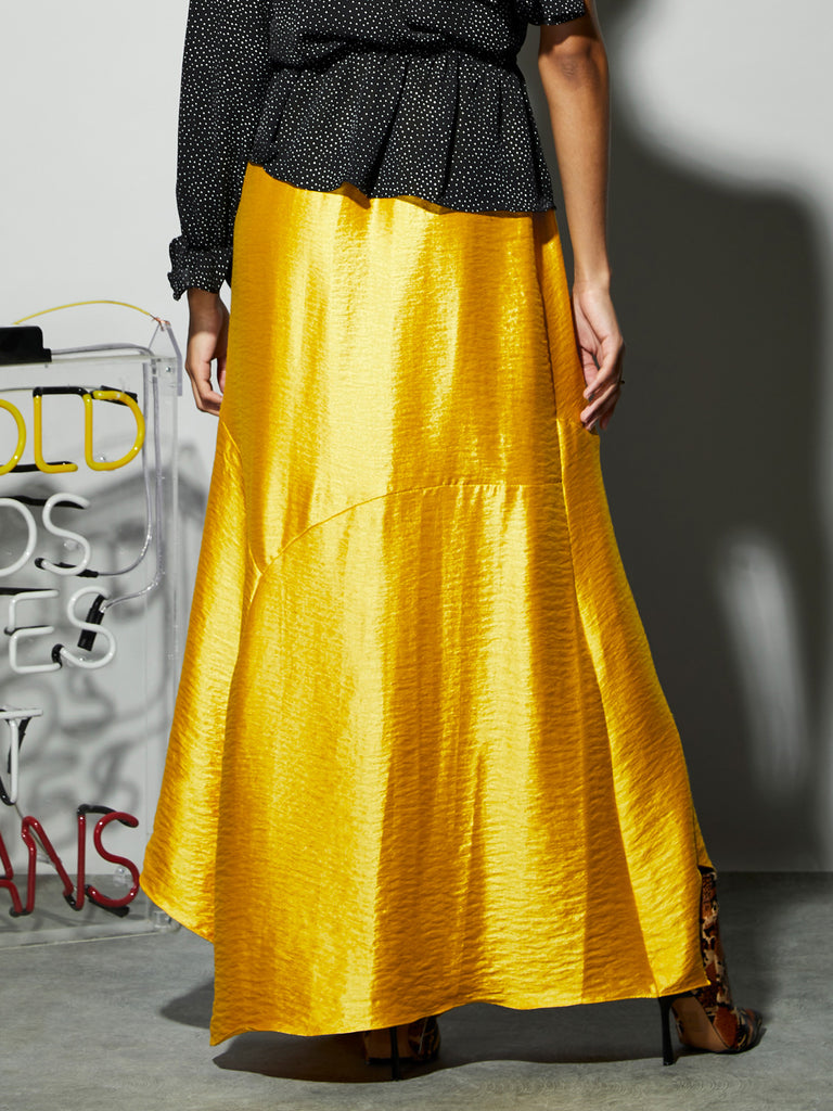 Piece Together Asymmetric Maxi Skirt