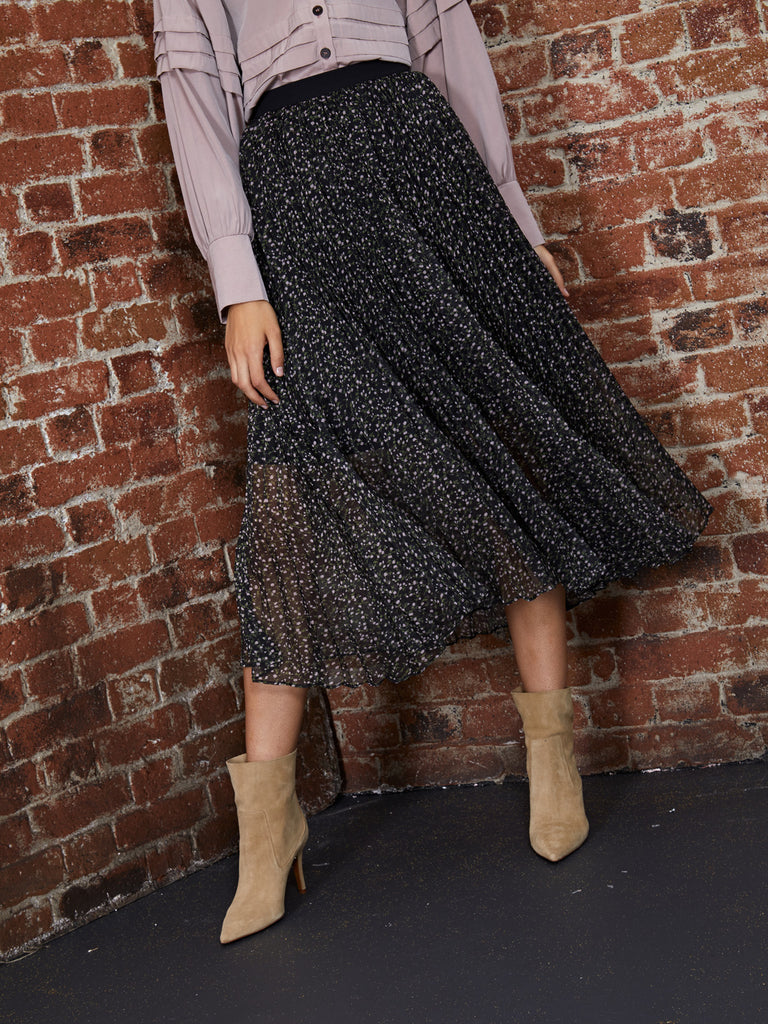 Nomand Pleated Midi Skirt