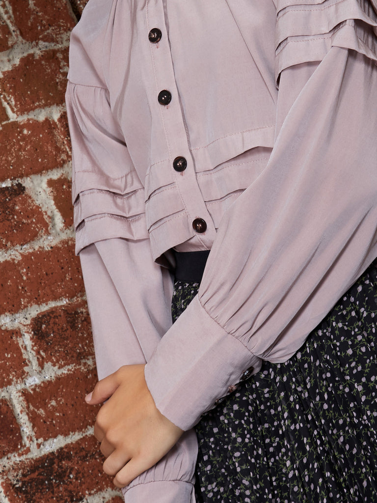 Trove Pleated Detail Shirt