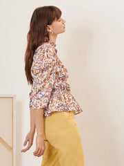 Fantasists Floral Ruched Top