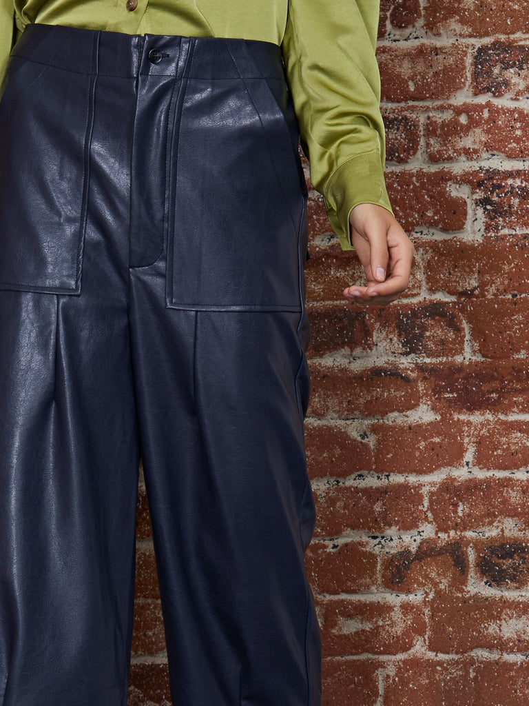 Oil Slick Cropped Trousers