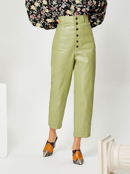 Clay Faux Leather Trousers