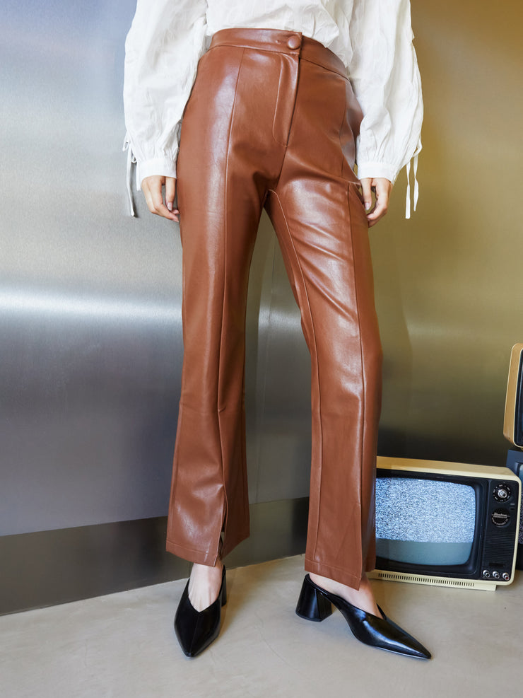 Definition Faux Leather Trousers