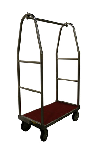 ClassicTrail Hospitality Luggage Cart without Bumpers, Chrome | Dollies and Carts - Aardvark Tool