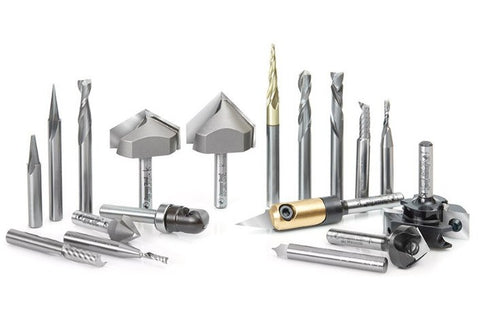 18-Pc Signmaking Advanced CNC Router Bit Collection, 1/4 Inch Shank | Sign Tools - Aardvark Tool