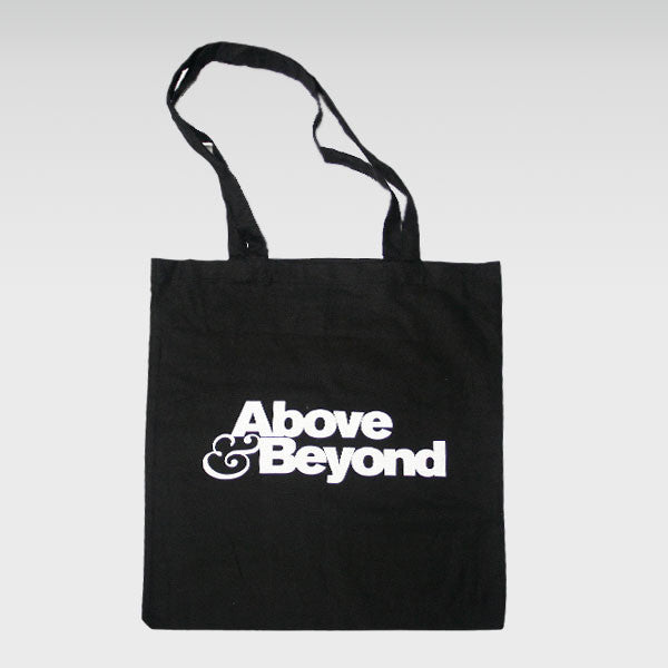 ABOVE & BEYOND BLACK TOTE BAG