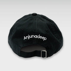 ANJUNADEEP BLACK EMBROIDERED LOGO CAP