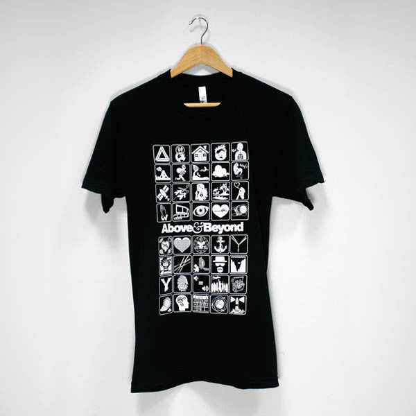 ABOVE & BEYOND SINGLES ICON BLACK T-SHIRT