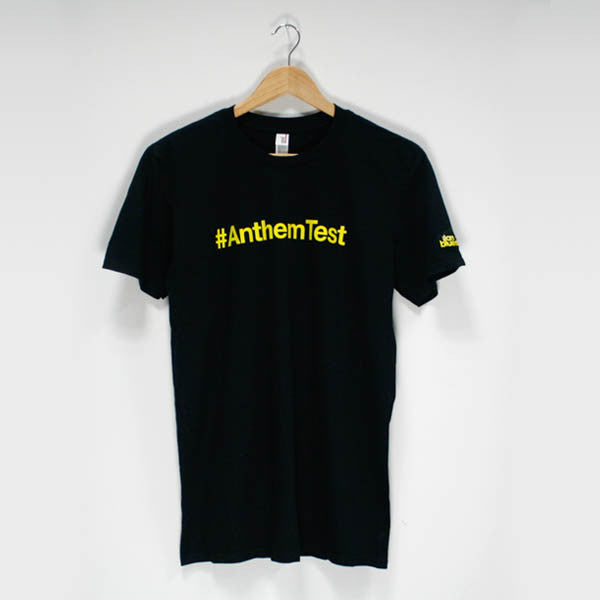 Black #Anthem Test T-Shirt - Ilan Bluestone