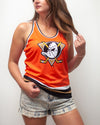 Anaheim Ducks Orange Retro Alternate Women's Racerback Hockey Tank