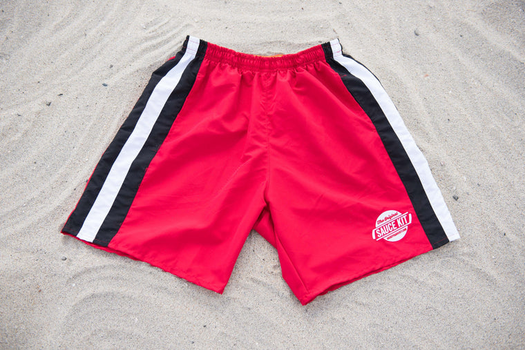 Ultimate Fit Gym Shorts (Red)